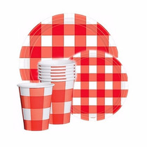 Kit Desechables 48 Pz Diseño Picnic Summer