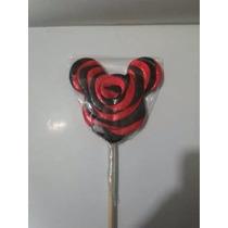 Paleta De Caramelo Macizo En Forma De Mickey