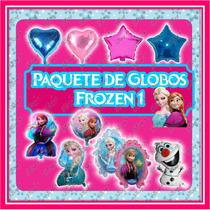Paquete 1 De 33 Globos De Frozen Ana Y Elsa.para Cumpleaños