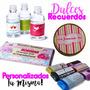 Recuerdos Y Dulces Personalizados, Etiquetas Personalizadas