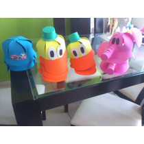 Gorras De Fomi Pocoyo Y Buble Guppies
