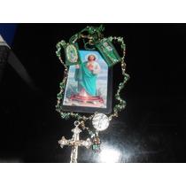 San Judas Set De Oracion Con Escapulario Rosario Y Oracion