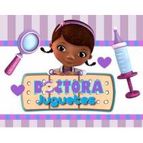 Kit Imprimible Doctora Juguetes, Invitaciones Y Cajitas