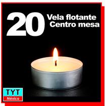 20 Velas Cera Centros De Mesa Decoración Fiesta Boda Xv Años