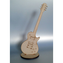 Figura Guitarra Mdf Madera Country Recuerdito 25 Cms.