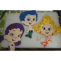Figuras De Foamy Personajes Bubble Guppies Lote 30 Piezas