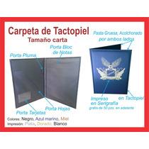 Carpeta Tamaño Carta, De Plastico Tactopiel/curpiel Cosida