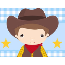 Kit Imprimible Cowboy Vaquero Tarjetas Invitaciones Y Mas