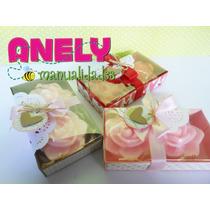 Caja Con Dos Rosas De Jabón Artesanal Día De Las Madres