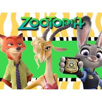 Kit Imprimible Zootopia Diseña Tarjetas Y Mas
