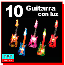 10 Guitarra Inflable Con Luz Led Eventos Fiesta Batucada