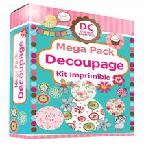 Kit Imprimible Decoupage + Tutorial Tecnicas El Mejor *2016*