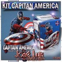 Capitan America Invitacion Carteles Kit Imprimible Jose Luis