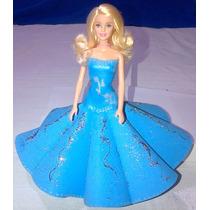 Muñeca Barbie, Vestido De Foamy, Para Xv Años... Manualidad