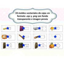 Klr-024 33 Moldes Para Cajas Para Fiesta, Cajitas Recuerdos