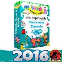 Kit Imprimible Empresarial Diamante 2016 Invitaciones Y Mas