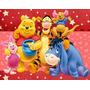 Kit Imprimible Winnie Pooh, Invitaciones Y Cajitas