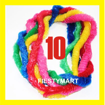 10 Collares Hawaianos Plastico Fiesta Boda Xv Dj Collar