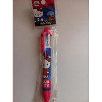 Pluma Multicolor Hello Kitty, 6 Colores! Fiesta Bolo