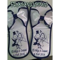 Pantufla Personalizada P/bodas,xvaños,de Moño En Satin