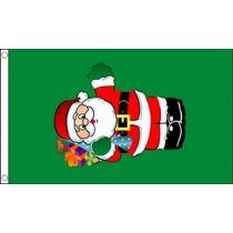 Decoración De Navidad - Santa Con Los Regalos 5x3 Bandera P