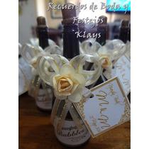 10 Burbujeros Botellita Champagne Personalizados