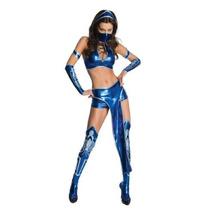 Secret Wishes Womens Kitana Mortal Kombat Traje Azul,