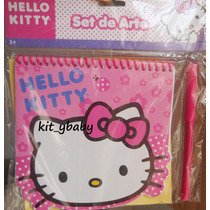 Fiesta De Hello Kitty, Libretita Con Pluma Y Stickers