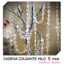 Cadena De Acrilicos 5 Metros (hilos) Para Hacer Cortina