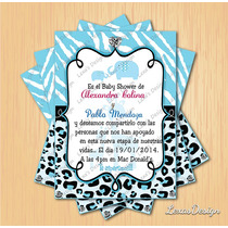 Kit Imprimible Baby Shower Girafa Animal Print + Candy Bar
