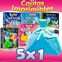 Kit Imprimible Princesas Disney Hadas, Recuerditos Y Cajitas