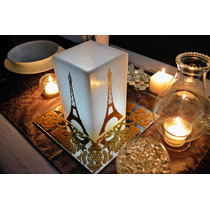 Centro De Mesa Temático De La Torre Eiffel Aluzza