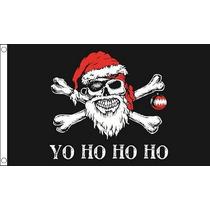 Bandera Pirata - Yo Ho Ho La Navidad Del Partido De Navidad