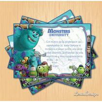 Invitacion Digital Imprimible Monters University Cumpleaños