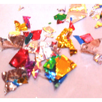 Confeti Metalico Azul Piñata Bazuca Posada Batucada Fiesta