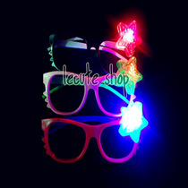 10 Lentes Led Luminosos Luz Kitty Neon Fiesta Boda Rave Xv
