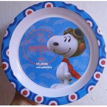 Fiesta De Snoopy, Plato De Melamina, Recuerdo, Regalo