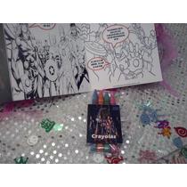 12 Invitaciones Avengers Cuento Para Coloreal Y Crayolas