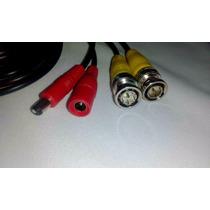 Cable Siames C/conectores Bnc Hembra A Macho Cctv 30 Mts F26