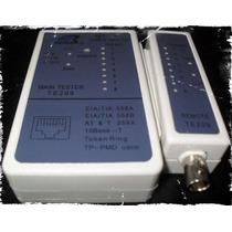 Tester Probador Pa Cable Red Utp Cat 5e Plug Rj45 Y Coaxial