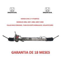 Caja Direccion Hidraulica Cremallera P/bomba Honda Civic