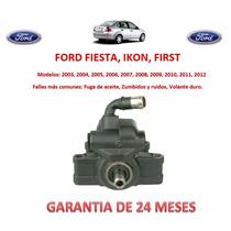 Bomba Licuadora Direccion Hidraulica P/caja Ford Fiesta Omm