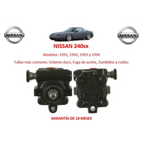 Bomba De Direccion Hidraulica Caja Cremallera Nissan 240sx