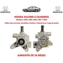 Bomba Licuadora Direccion Hidraulica Honda Accord 4 Cil