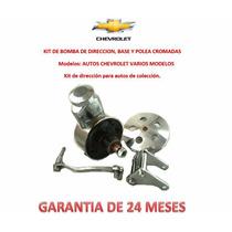 Dirección Hidráulica Bomba,base,polea Chevrolet Coleccion