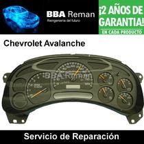 Chevrolet Avalanche Tablero De Instrumentos Reparación
