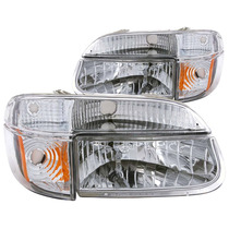 Ford Explorer 95-01 Crystal H.l Chrome Amber