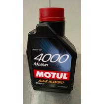 Motul Aceite De Motor Mineral 4000 Motion Sae15w50 - 1 Lt