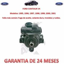 Bomba Licuadora Direccion P/caja Cremallera Ford Contour V4