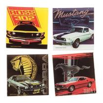 4 Posta Vasos Ford Mustang Multicolor